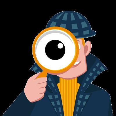 Comic Stil: Detektiv